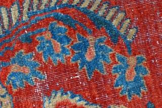 #1B485 Hand made antique Persian Mahal Vagireh rug 2,1' x 3,10' ( 64cm x 121cm ) 1900.C