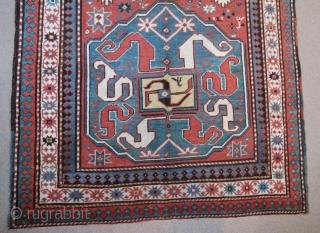 Antique Caucasian Rug in good condition,191 x 123 cm . www.eymen.com.tr
