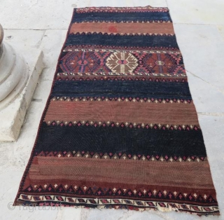 Anatolian kurdish kilim fragment.180 x 90 cm  www.eymen.com.tr