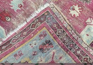 Anatolian kirsehir rug fragmented 140 x 96 cm