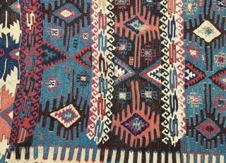 Early anatolian kilim fragment,260 x82 cm  www.eymen.com.tr