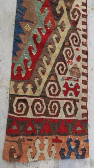 Anatolian kilim fragment, 346 x 54 cm  www.eymen.com.tr