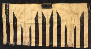 Syrian garments fragment halepo textile with silver material,136 x 63 cm  www.eymen.com.tr