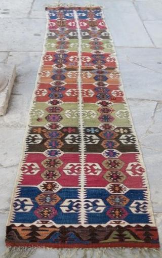 Anatolian kilim fragment, 360 x 56 cm. www.eymen.com.tr