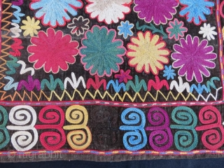 Kirgiz lakai tribal silk embroidery on velvet,57 x 42 cm . www.eymen.com.tr