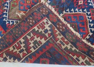 Antique Kurdish Jaff with damage .255 x 234 cm
