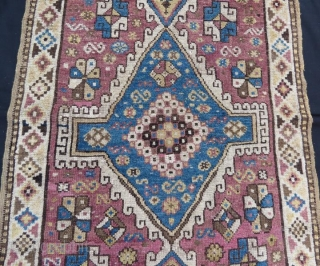 Anatolian Terekeme Rug,pure wool natural dyes.238 x 94 cm