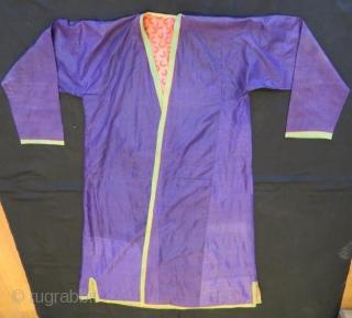 Antique Turkmen Silk kaftan 160 x 130 cm