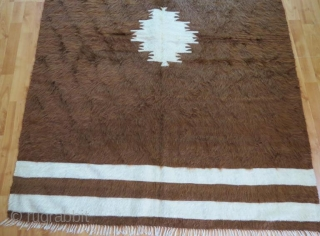 Vintage anatolian Sirt blanket,188 x 135 cm