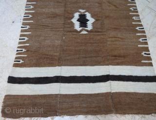 Anatolian antique Sirt blanket rug. 197 x 135 cm