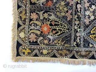 Central asian Kyrgyzstan lakai,silk embroidery on velvet , 160 x 120 cm  www.eymen.com.tr