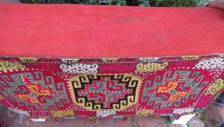 Uzbek Lakay silk embroidery mafrash , 130 x 100 x 25 cm