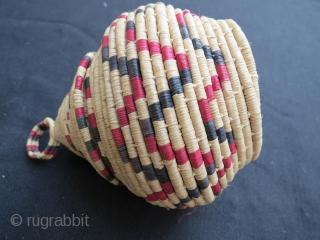 Anatolian hemp weave basket in good condition .