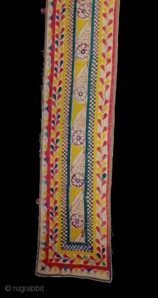 Kyrgzstan,Lakay Tribal Silk Embroidery Tent Band frangment.330 x 34 cm . www.eymen.com.tr