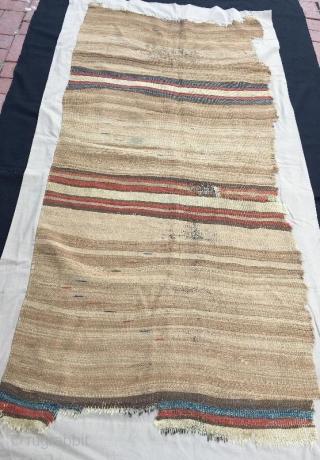18th century anatolian karapinar kilim fragment 190 x 92 cm