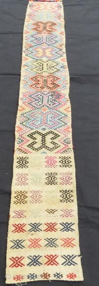 Silk embroidery anatolian tent band fragment,175 x 15 cm. www.eymen.com.tr