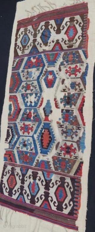 18 century anatolian kilim fragment .205 x 82 cm, www.eymen.com.tr
