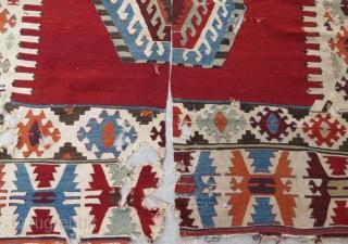 Anatolian kilim fragment .172 x 167 cm  www.eymen.com.tr