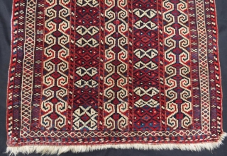 Antique and rare yamut rug ,114 x 98 cm .