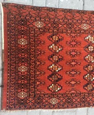 Ersari chuval very fine with silk pile,in good condition.167 x 80 cm