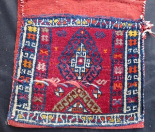 Anatolian kurdish saddle bag / heybe .116 x 40 cm .