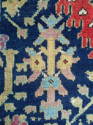 "C. 1800 Classic Karabaugh Harshang design rug (41"" x 70""), Medium, even pile. Great color range. Fantastic drawing! Fine weave."