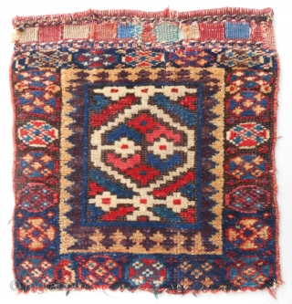 Kurdish SaujBulagh pile bagface. C. 1850-70. Very good, original condition.