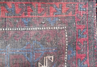 Stunning Seljuk inspired Baluch bagface. C, 1880.