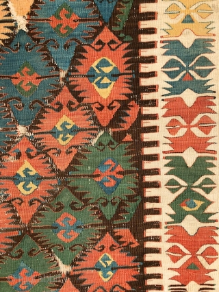 """The details are not the details, they make the design"" - Charles Eames Joyfully drawn kilim, most probably a divan cover, Central Anatolia/Konya region, mid. 19th century more beauties: http://rugrabbit.com/profile/5160"