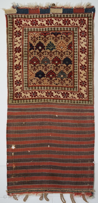 Pile khorjin half, opened out, Shirvan plain, 53 x 113 cms.