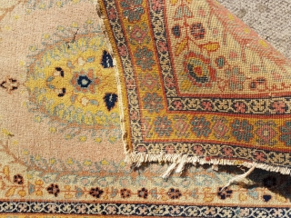 Antique Tabriz mat ( poshti ) in fine knot 