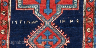 Antique Kazak (1931) 178x110cm  This rug is dated 1931 both in Arabic and Indian numerals Note: 1,2,3 are Arabic numeral which we adopted to replace Roman numbers I,II, III, etc  The Arabs, on the  ...