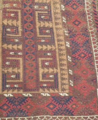 Antique Baluch Rug Size.105x75cm