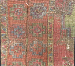 Early 18th East Anatolian Sivas Fragment Rug Size.94x74cm