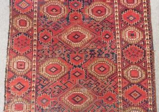 Antique Türkmen Beshir Main Rug Size.293x130cm
