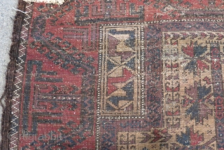 Antique Baluch Prayer Rug Size.138x78cm