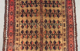 Antique Baluch Prayer Rug Size.154x96cm
