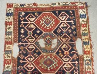 Antique Shahsavan Fragment Rug Size.220x114cm