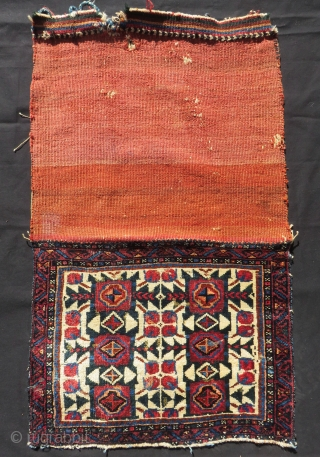 Antique Persian Kurdısh Bagface Size.66x50cm