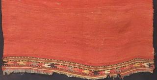 Early 19th Century Anatolian Fethiye Kilim Fragment Size.146x128cm