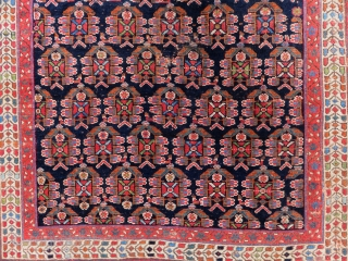 Antique Afshar Rug Size.136x126cm
