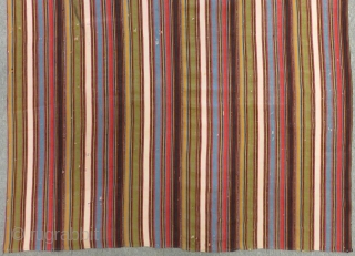 Antique Persian Shahsavan Striped Kilim Size 220x120 Cm