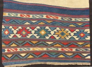 Antique Shahsavan Besik Kilim Panel Size.173x73 Cm