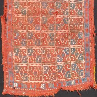 Early 19th Century Cenral Anatolian Konya Obruk Cecim Yastık Size.105x64 Cm