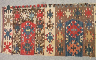 Early 19th Century West Anatolian Aydın Saf Kilim Size.310x60