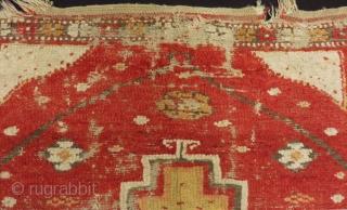 Early 19th Century Central Anatolian Konya Obruk Rug Size.135x120cm
