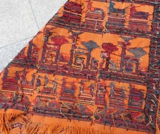 Antique Shahsavan Horse Cover Size.168x165 Cm