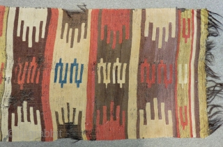 Early 19th Century South Anatolian Mud Kilim fragment Size.250x71cm