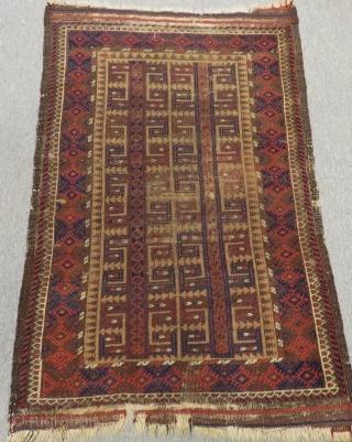 Antique Baluch Rug Size.105x75 Cm