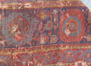 18th Century West Anatolian Ushak Fragment Size.225x125cm